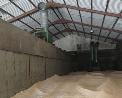Large scale drying operation